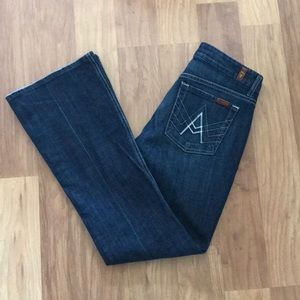 "7 for All Mankind ""A Pocket"" Bootcut Jeans size 29"